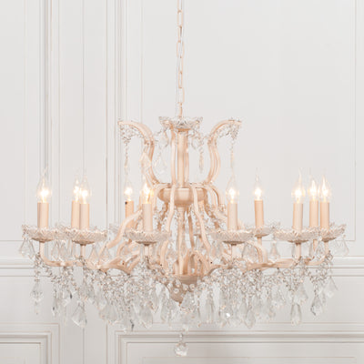Reims Creme 12 Branch Chandelier - Husoe Home