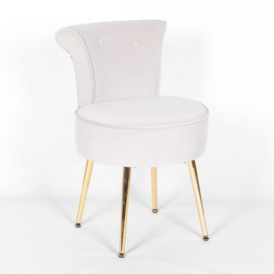 Joséphine Bedroom Chair with Gold Legs - Husoe Home