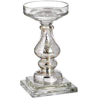 Tall Glass Candle Holder - Husoe Home