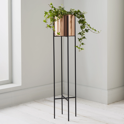 Elegant Large Copper Plant Holder on Stilts - Husoe Home
