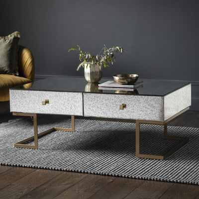 Moire Mirrored Coffee Table - Husoe Home
