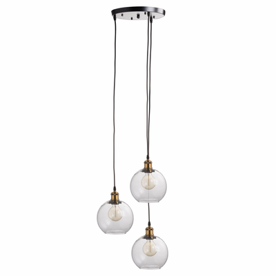 Medusa Triple Hanging Glass Globe Light - Husoe Home