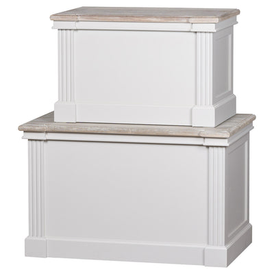 Knightsbridge Collection Set Of Two Blanket Boxes - Husoe Home