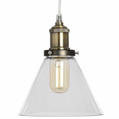 Cleopatra Glass Cone Pendant Lamp - Husoe Home