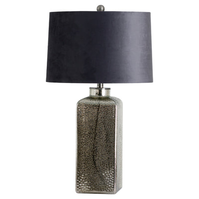 Stella Mirrored Glass Table Lamp With Velvet Shade - Husoe Home