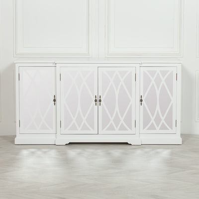 Copmere White Mirrored Media Unit - Husoe Home