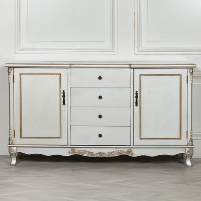 Parisian Silver Antique Sideboard - Husoe Home