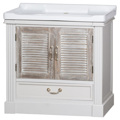 Knightsbridge Collection Vanity Sink Unit With Louvered Doors - Husoe Home