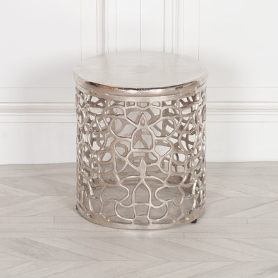Silver Maze Side Table - Husoe Home