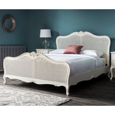Debonair Collection Cane Bed - Jasmine White - Husoe Home