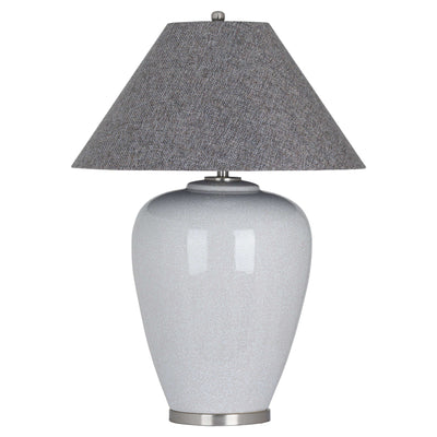 The Giant Augustus Grey Crackle Ceramic Table Lamp - Husoe Home