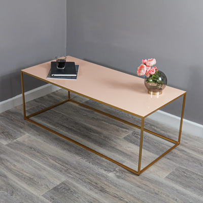 Gold and Blush Coffee Table - Husoe Home