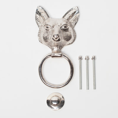 Chrome Fox Door Knocker - Husoe Home