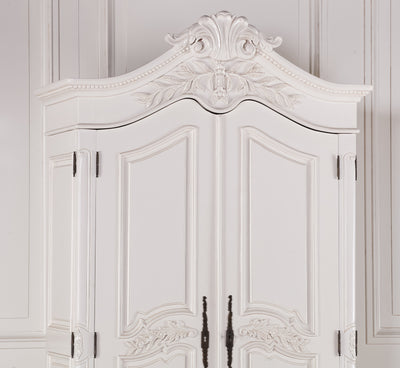 Adelaide French White Double Wardrobe - Husoe Home