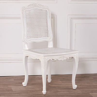 White Rattan Dining / Bedroom Chair - Husoe Home