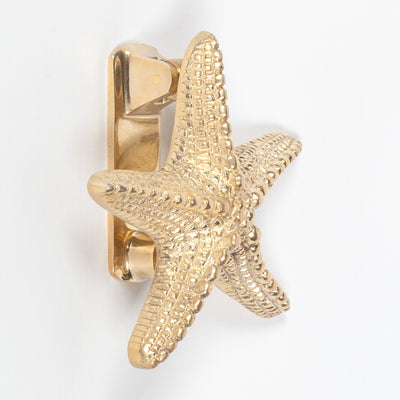 Brass Starfish Door Knocker - Husoe Home