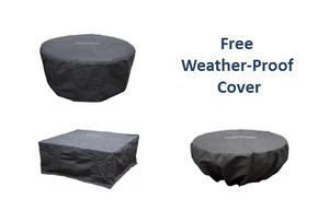 "Fire Bowl Lombard Pedestal 29"" - Free Cover ✓ [Prism Hardscapes]"