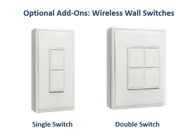 Heatstrip Single Wireless Wall Switch