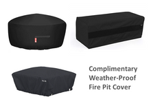 "Load image into Gallery viewer, The Outdoor Plus 48"" x 24"" Ready-to-Finish Round Gas Fire Table Kit + Free Cover - The Fire Pit Collection"