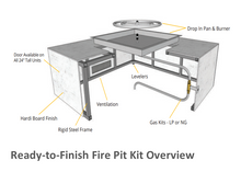 "Load image into Gallery viewer, The Outdoor Plus 96"" x 28"" x 15"" Ready-to-Finish Coronado Gas Fire Pit Kit + Free Cover - The Fire Pit Collection"