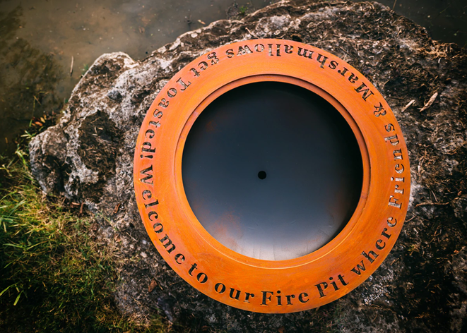 Fire Pit Art Personalized Saturn / Magnum Ring Add-on - The Fire Pit Collection