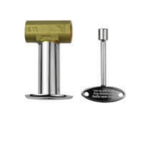 "The Outdoor Plus 1/2"" Adjustable Flow Brass Key Valve - The Fire Pit Collection"