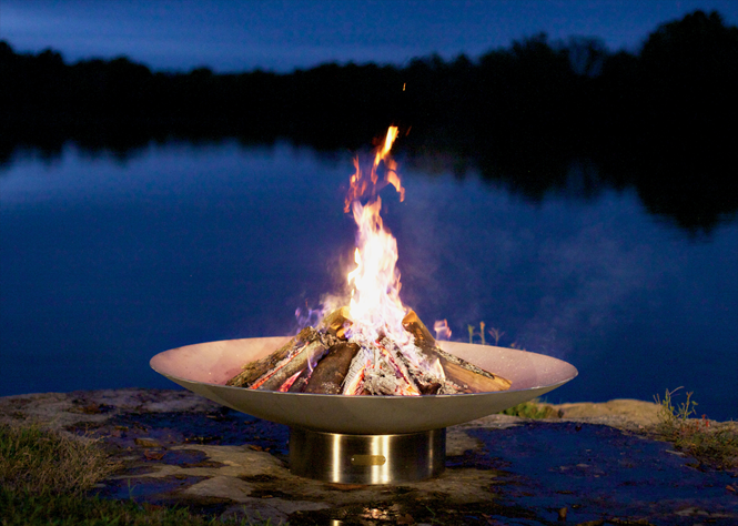 Fire Pit Art Bella Vita Stainless Steel Fire Pit + Free Weather-Proof Fire Pit Cover - The Fire Pit Collection