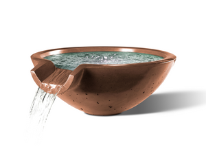 "Camber Round Water Bowl 29"" - Free Cover ✓ [Slick Rock Concrete]"