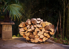 Load image into Gallery viewer, Fire Pit Art Stainless Steel Crescent Log Rack - The Fire Pit Collection