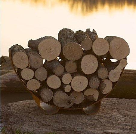 Fire Pit Art Crescent Log Rack - The Fire Pit Collection