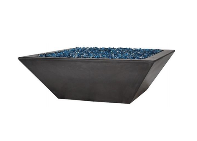 Fire by Design Geo Low Square Fire Bowl