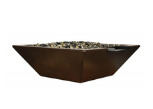 Load image into Gallery viewer, Fire by Design Geo Square Fire & Water Bowl / Electronic Ignition