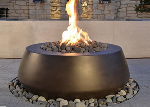Round Belize Fire Pit with Electronic Ignition - Free Cover ✓ [Fire by Design]
