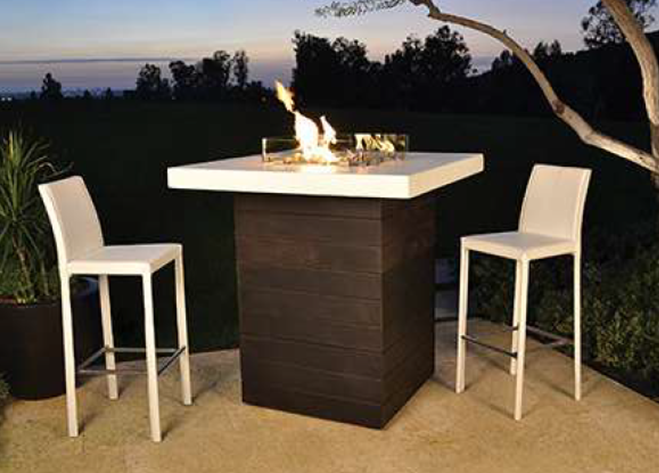 Fire by Design Five O'Clock Bar Fire Table + Free Cover - The Fire Pit Collection