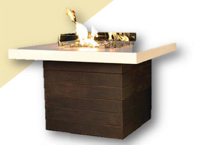 Fire by Design Five O'Clock Dining Fire Table + Free Cover - The Fire Pit Collection