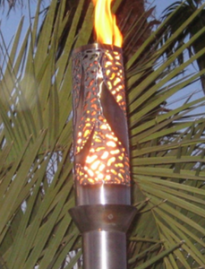 Fire by Design Bird of Paradise Gas Tiki Torch / Manual Light + Free Cover - The Fire Pit Collection