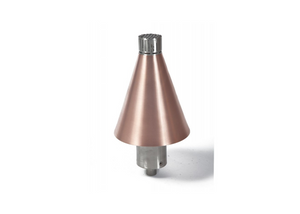 Fire by Design Copper Cone Gas Tiki Torch / Manual Light + Free Cover - The Fire Pit Collection