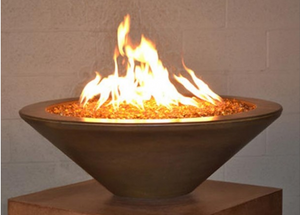 "Fire by Design Geo Round ""Essex"" Fire Bowl + Free Cover - The Fire Pit Collection"