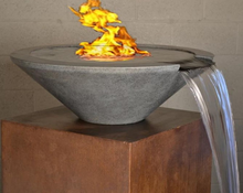 "Load image into Gallery viewer, Fire by Design Geo Round ""Essex"" Fire on Water Bowl + Free Cover - The Fire Pit Collection"