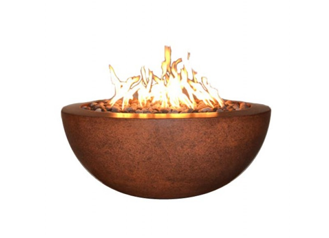 Fire by Design Legacy Round Fire Bowl + Free Cover - The Fire Pit Collection