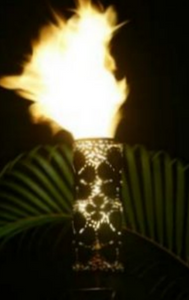 Fire by Design Plumeria Gas Tiki Torch / Manual Light + Free Cover - The Fire Pit Collection