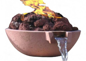 Fire by Design Scupper Wok Fire & Water Bowl / Electronic Ignition + Free Cover - The Fire Pit Collection