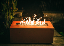 Load image into Gallery viewer, Fire Pit Art Linear Fire Table + Free Weather-Proof Fire Pit Cover - The Fire Pit Collection