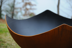 Fire Pit Art Manta Ray Fire Pit + Free Weather-Proof Fire Pit Cover - The Fire Pit Collection