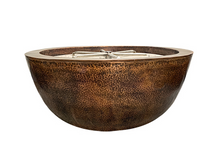 "Load image into Gallery viewer, Prism Hardscapes 39"" Moderno 1 Copper Fire Bowl with Electronic Ignition"