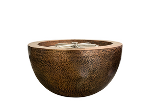 "Prism Hardscapes 30"" Moderno 3 Copper Fire Bowl"