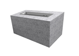 "The Outdoor Plus 108"" x 24"" x 24"" Ready-to-Finish Rectangular Gas Fire Pit Kit - The Fire Pit Collection"