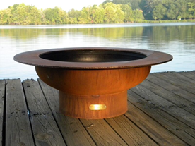 Fire Pit Art Saturn Fire Pit + Free Weather-Proof Fire Pit Cover - The Fire Pit Collection