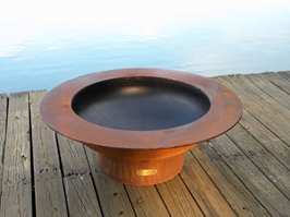Fire Pit Art Saturn with Lid Fire Pit + Free Weather-Proof Fire Pit Cover - The Fire Pit Collection