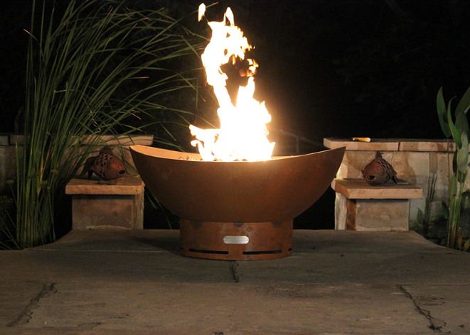 Fire Pit Art Scallops Fire Pit + Free Weather-Proof Fire Pit Cover - The Fire Pit Collection